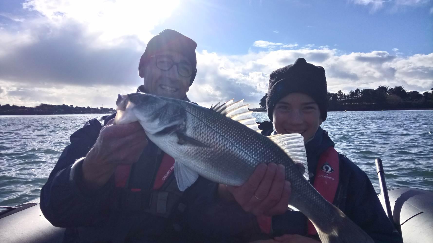 Une sortie pêche en mer réussie ! vive la pêche ! Vive le Golfe du Morbihan ! ©