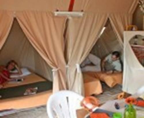 Camping-du-Kerver-Chambre-bungatoile-Saint-Gildas-de-Rhuys-Morbihan-Bretagne Sud © Camping Municipal du Kerver