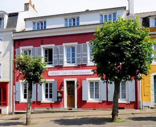 Bretagne Sud_Morbihan_Belle île en Mer_Hotel bord de mer_hotel Saint Amant_façace hôtel ©